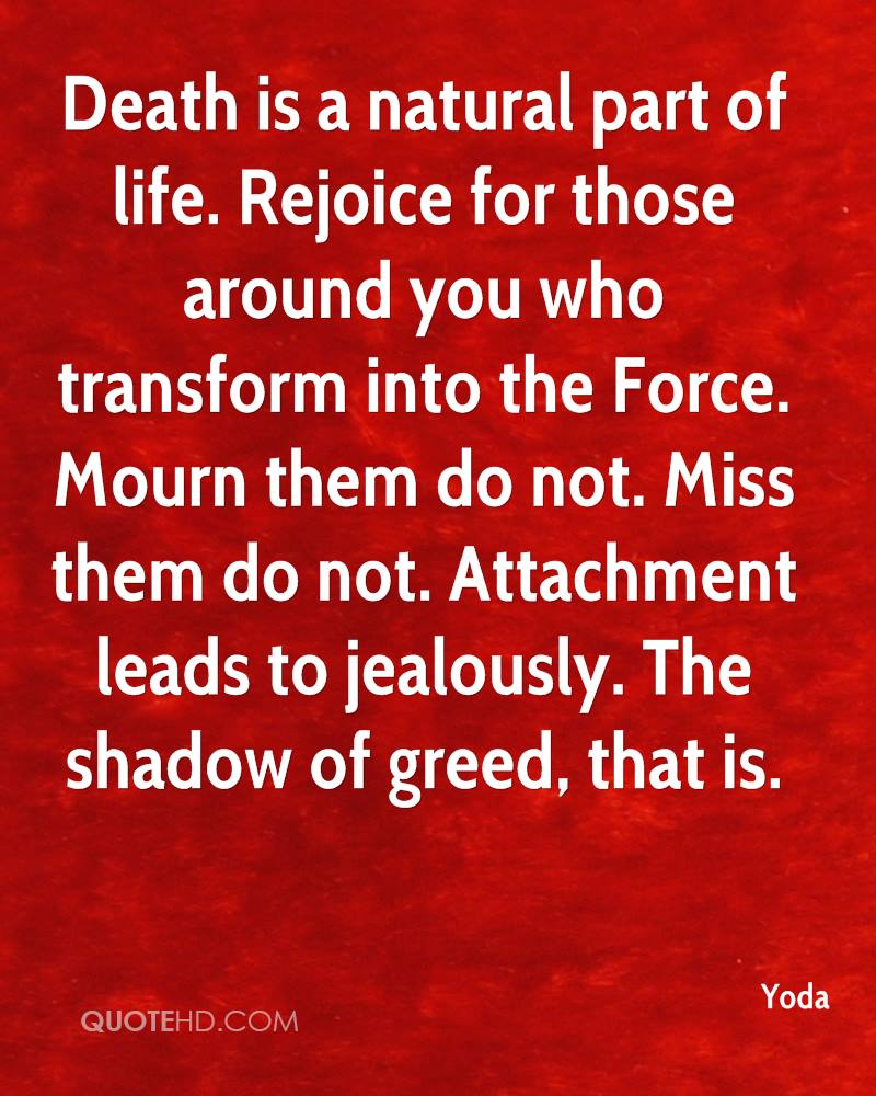 Quotes On Death Yoda Death Quotes  Quotehd
