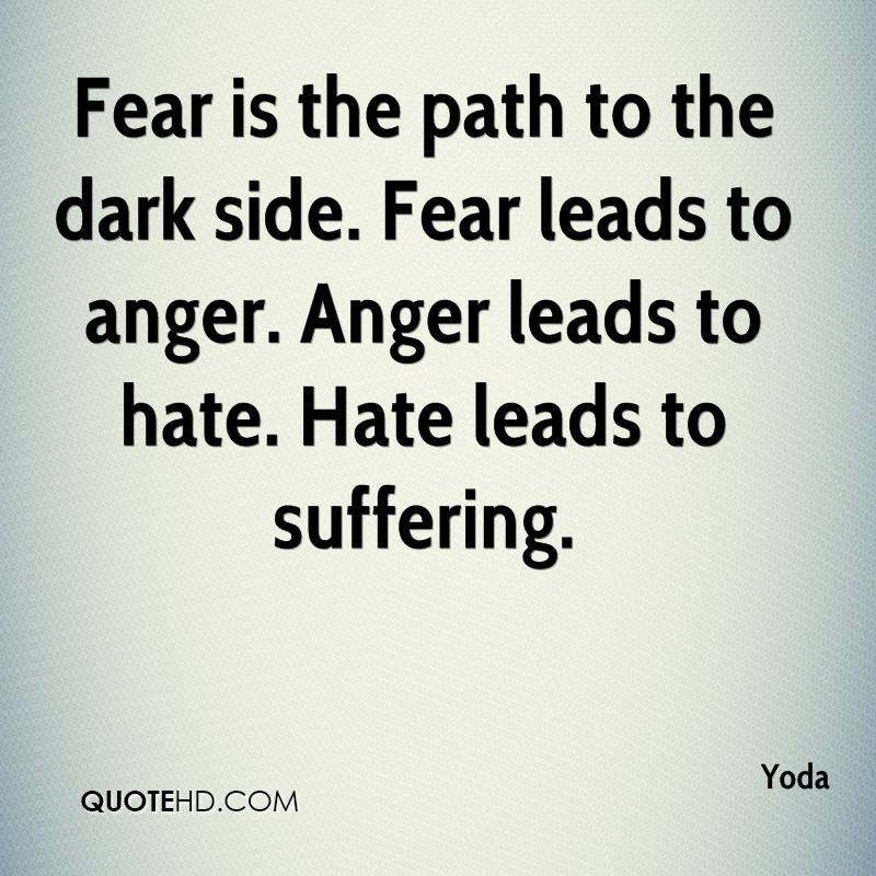 Quotes About Anger And Rage: Dark Side Yoda Quotes. QuotesGram