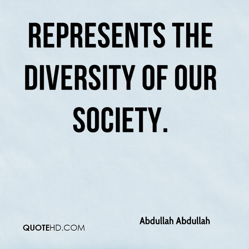 diversity in our society