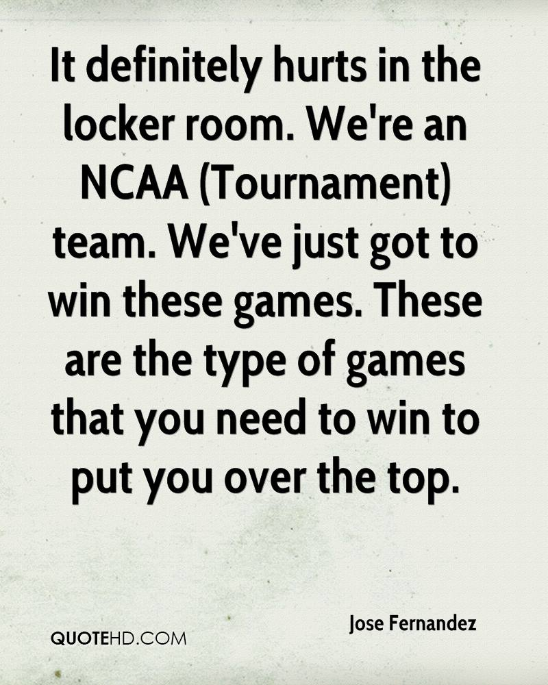 It definitely hurts in the locker room. We're an NCAA (Tournament) team. We've just got to win these games. These are the type of games that you need to win to put you over the top.