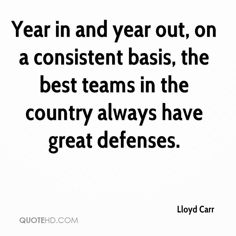 Year in and year out, on a consistent basis, the best teams in the country always have great defenses.