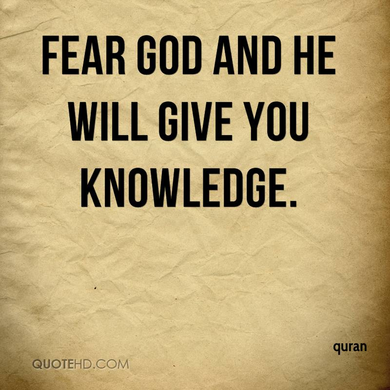 God Fearing Quotes And Sayings: Quran Quotes