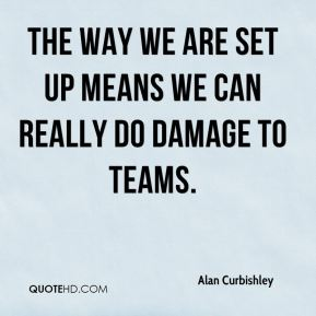 Alan Curbishley - The way we are set up means we can really do damage to teams.
