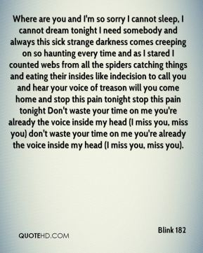 Blink 182 I Miss You Quotes