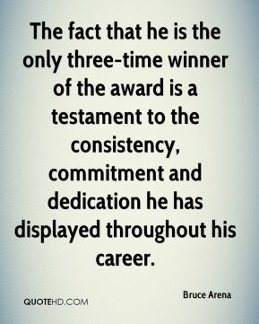 The fact that he is the only three-time winner of the award is a testament to the consistency, commitment and dedication he has displayed throughout his career.