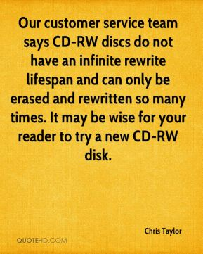 Our customer service team says CD-RW discs do not have an infinite rewrite lifespan and can only be erased and rewritten so many times. It may be wise for your reader to try a new CD-RW disk.