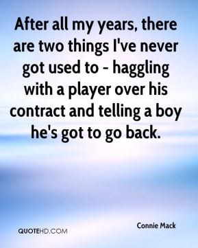 After all my years, there are two things I've never got used to - haggling with a player over his contract and telling a boy he's got to go back.