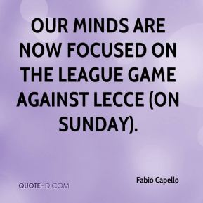 Our minds are now focused on the league game against Lecce (on Sunday).