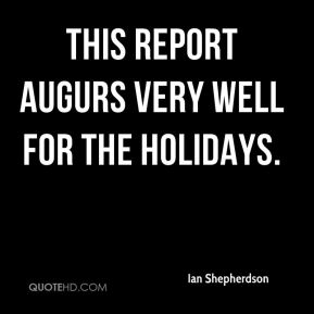 This report augurs very well for the holidays.