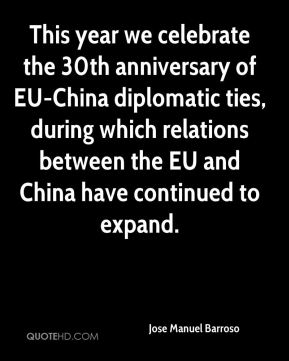 This year we celebrate the 30th anniversary of EU-China diplomatic ties, during which relations between the EU and China have continued to expand.