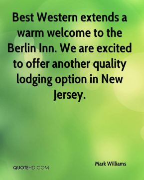 Best Western extends a warm welcome to the Berlin Inn. We are excited to offer another quality lodging option in New Jersey.