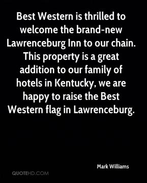 Best Western is thrilled to welcome the brand-new Lawrenceburg Inn to our chain. This property is a great addition to our family of hotels in Kentucky, we are happy to raise the Best Western flag in Lawrenceburg.
