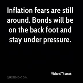 Inflation fears are still around. Bonds will be on the back foot and stay under pressure.