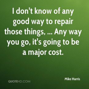 I don't know of any good way to repair those things, ... Any way you go, it's going to be a major cost.