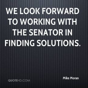 We look forward to working with the senator in finding solutions.