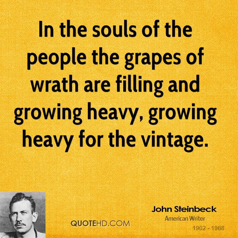 an analysis of the topic of the grapes of wrath by john steinbeck The grapes of wrath study guide contains a biography of john steinbeck, literature essays, quiz questions, major themes, characters, and a full summary and analysis.