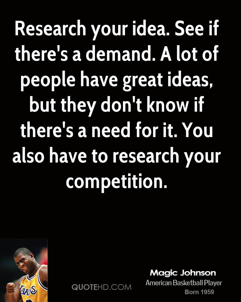 Quotes On Research Magic Johnson Quotes  Quotehd