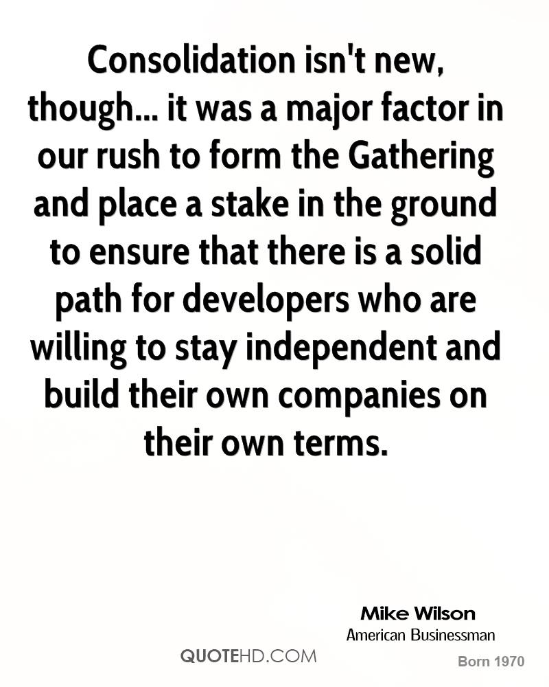 Consolidation isn't new, though... it was a major factor in our rush to form the Gathering and place a stake in the ground to ensure that there is a solid path for developers who are willing to stay independent and build their own companies on their own terms.