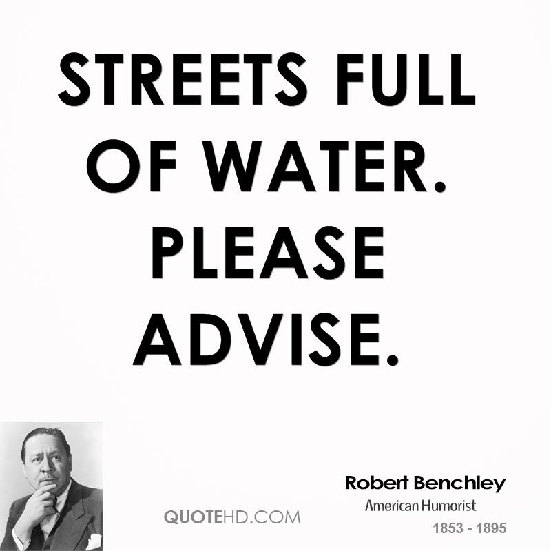 STREETS FULL OF WATER. PLEASE ADVISE.