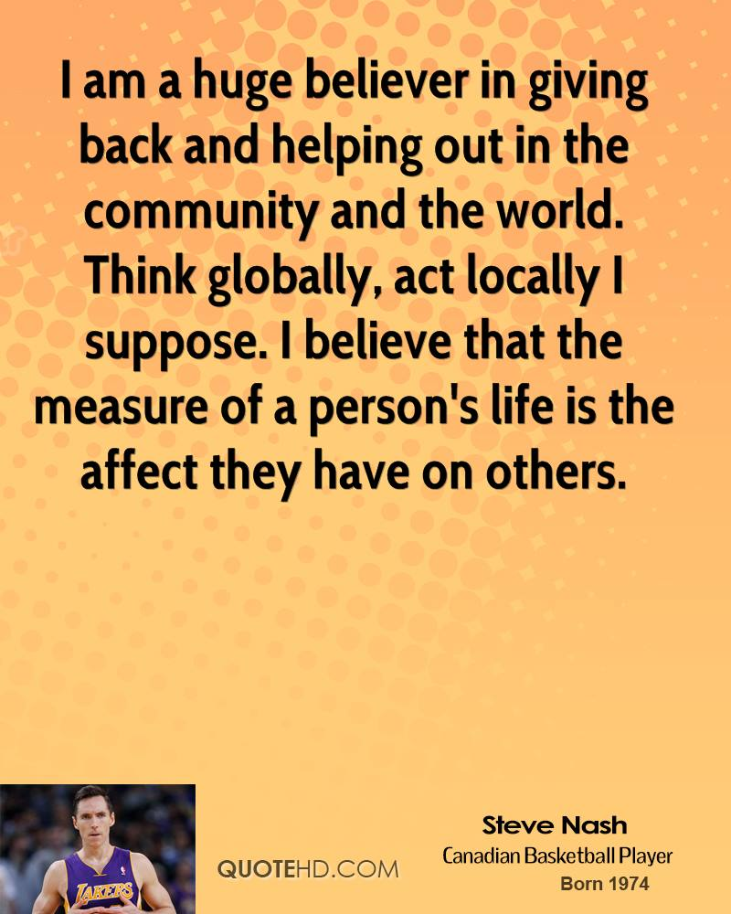 Quotes On Giving Back Steve Nash Quotes  Quotehd
