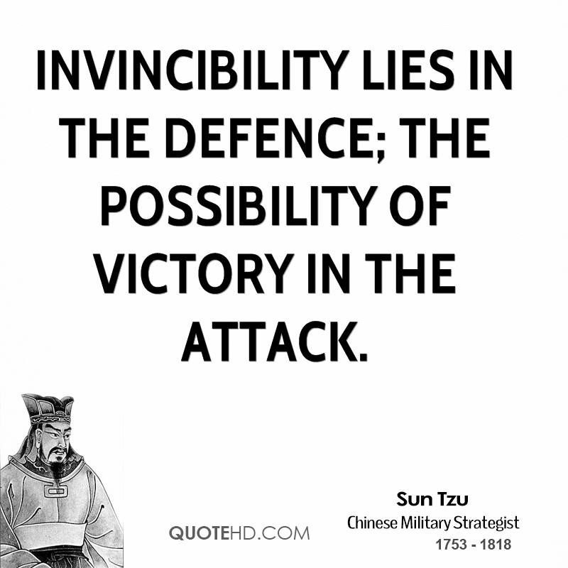 Billedresultat for invincibility with defence and possibility of winning by attack
