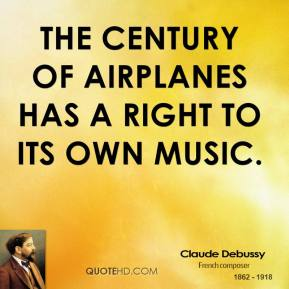 The century of airplanes has a right to its own music.