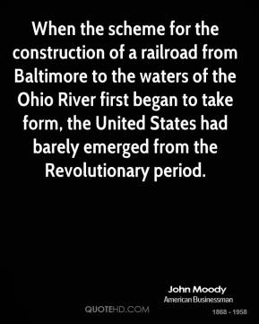 When the scheme for the construction of a railroad from Baltimore to the waters of the Ohio River first began to take form, the United States had barely emerged from the Revolutionary period.