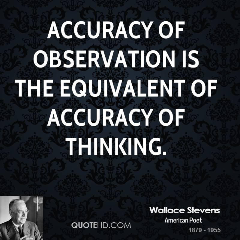 Accuracy of observation is the equivalent of accuracy of thinking.