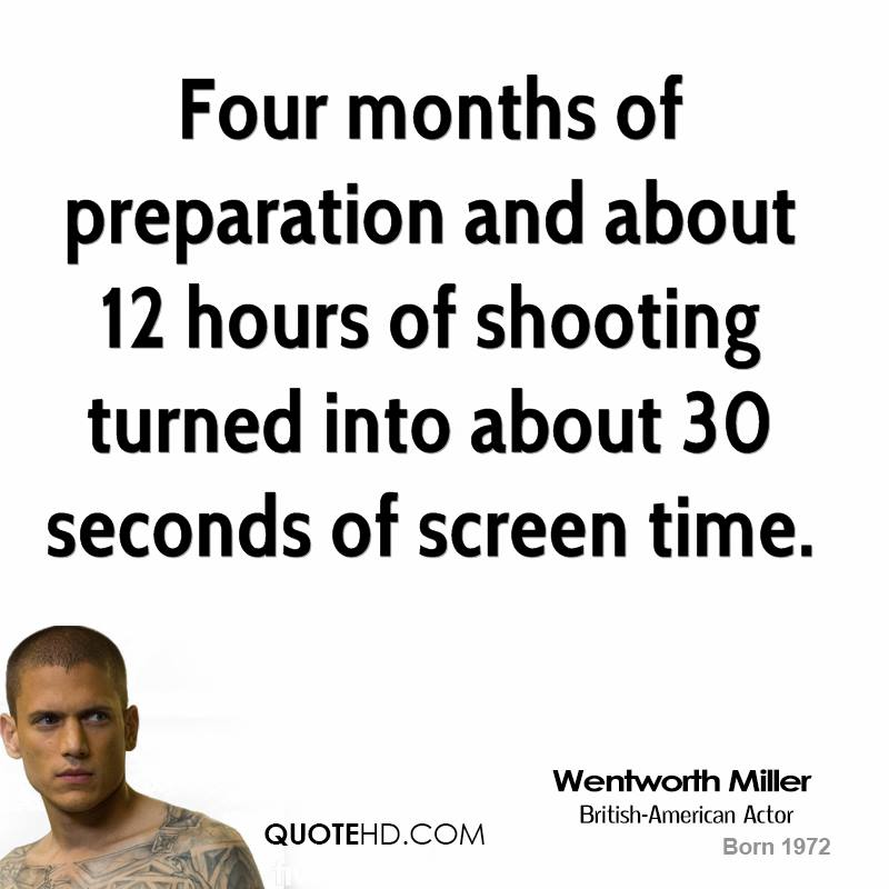 Four months of preparation and about 12 hours of shooting turned into about 30 seconds of screen time.