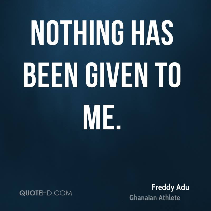 Nothing has been given to me.