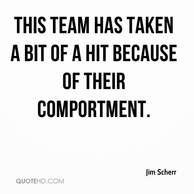 This team has taken a bit of a hit because of their comportment.