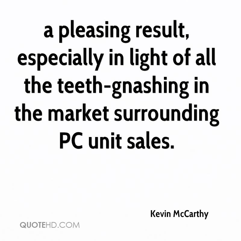 a pleasing result, especially in light of all the teeth-gnashing in the market surrounding PC unit sales.