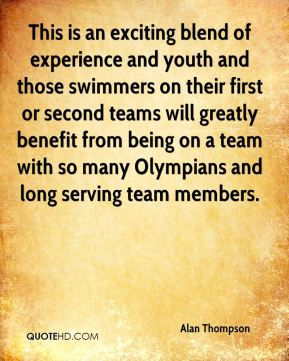 This is an exciting blend of experience and youth and those swimmers on their first or second teams will greatly benefit from being on a team with so many Olympians and long serving team members.