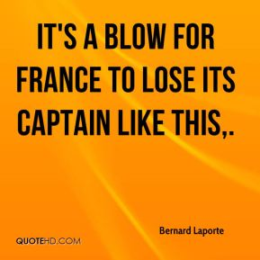 It's a blow for France to lose its captain like this.