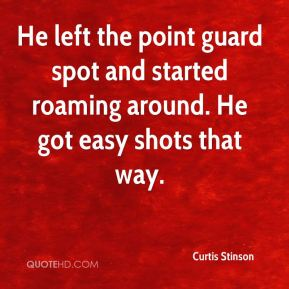 Curtis Stinson - He left the point guard spot and started roaming around. He got easy shots that way.
