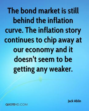 The bond market is still behind the inflation curve. The inflation story continues to chip away at our economy and it doesn't seem to be getting any weaker.