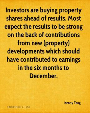 Investors are buying property shares ahead of results. Most expect the results to be strong on the back of contributions from new (property) developments which should have contributed to earnings in the six months to December.