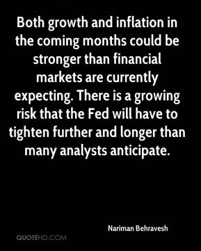 Both growth and inflation in the coming months could be stronger than financial markets are currently expecting. There is a growing risk that the Fed will have to tighten further and longer than many analysts anticipate.