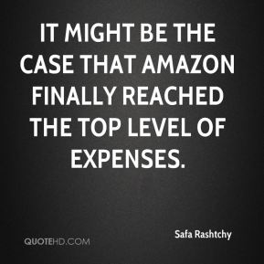 It might be the case that Amazon finally reached the top level of expenses.