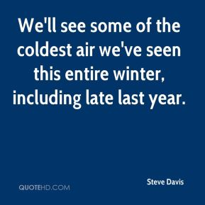 We'll see some of the coldest air we've seen this entire winter, including late last year.