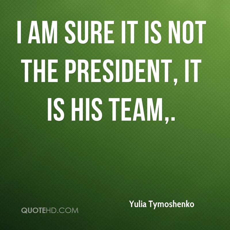I am sure it is not the president, it is his team.