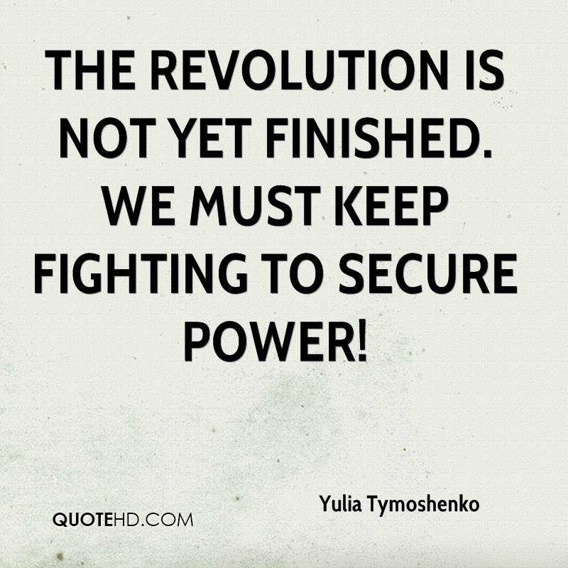 The revolution is not yet finished. We must keep fighting to secure power!