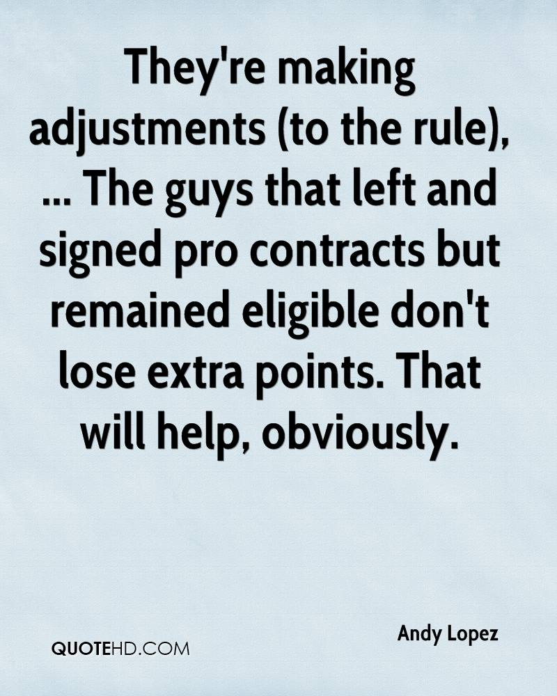 They're making adjustments (to the rule), ... The guys that left and signed pro contracts but remained eligible don't lose extra points. That will help, obviously.