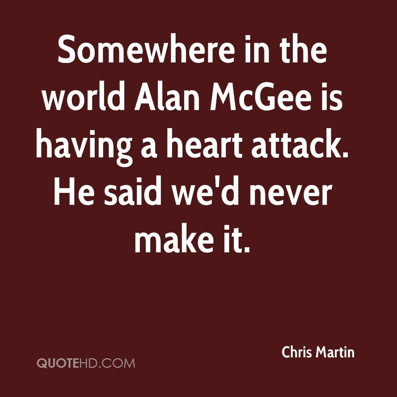 Somewhere in the world Alan McGee is having a heart attack. He said we'd never make it.