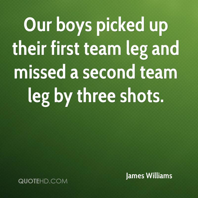 Our boys picked up their first team leg and missed a second team leg by three shots.