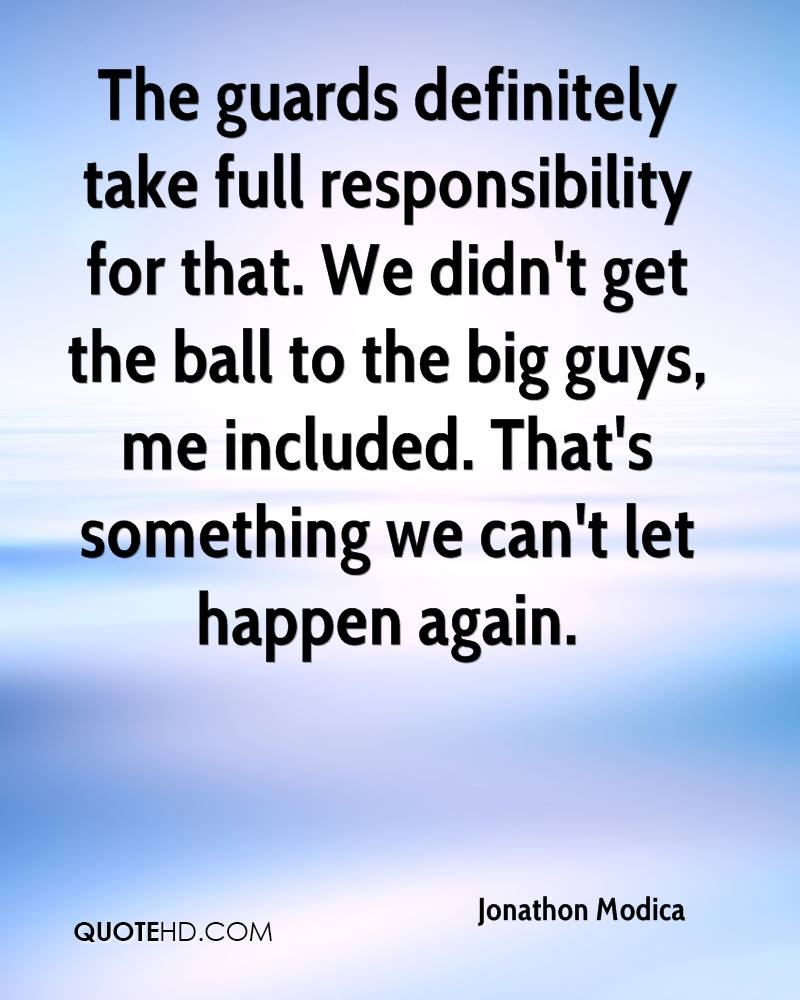 The guards definitely take full responsibility for that. We didn't get the ball to the big guys, me included. That's something we can't let happen again.