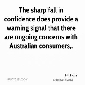 The sharp fall in confidence does provide a warning signal that there are ongoing concerns with Australian consumers.