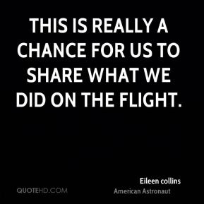 This is really a chance for us to share what we did on the flight.