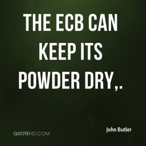 The ECB can keep its powder dry.
