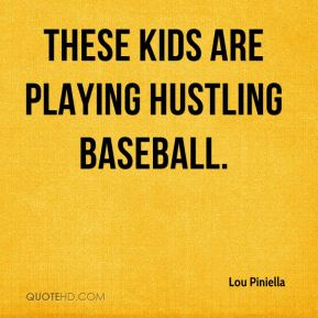 These kids are playing hustling baseball.
